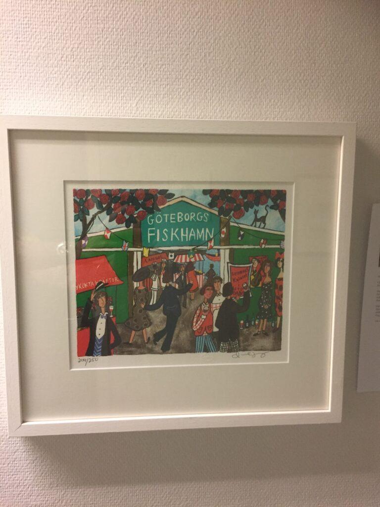 10Göteborgs Fiskehamn, litografi, B, Marika Lang