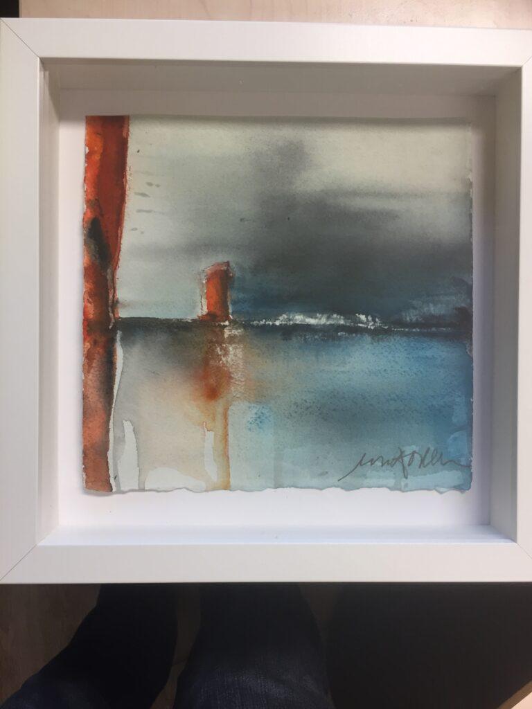 13Till havs, akvarell, C, Ulla Ohlsson