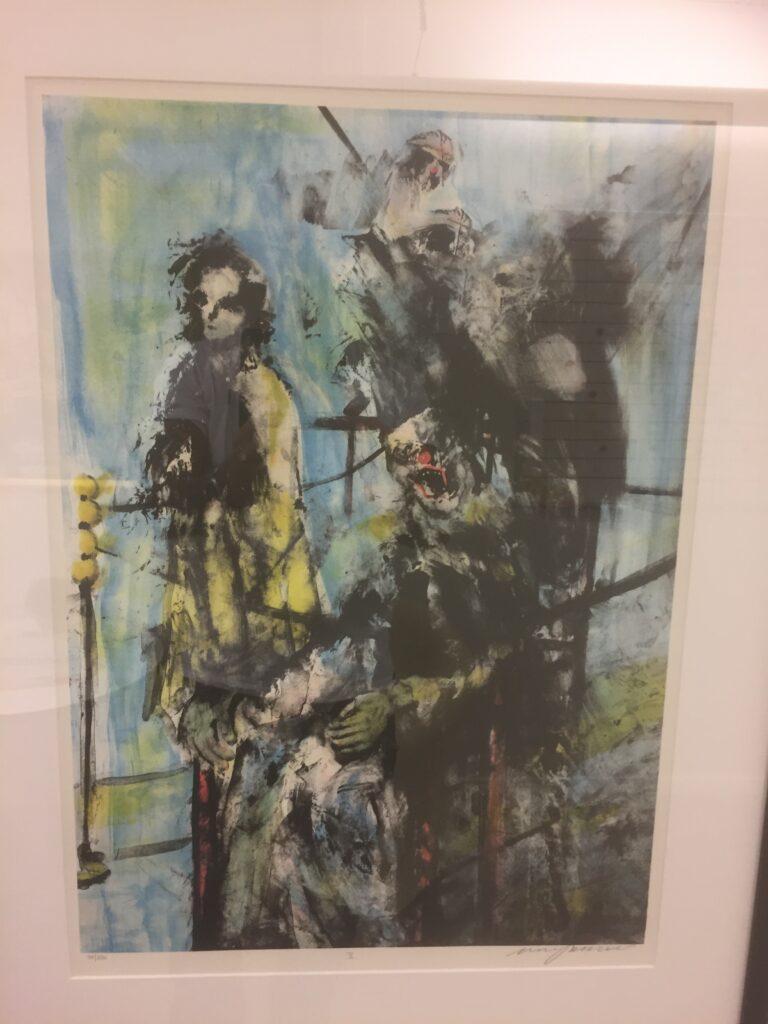 4Besöket, litografi, D, Mikael Persbrandt